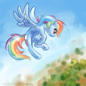 Rainbow in the sky by KP-ShadowSquirrel