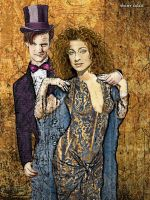 River Song and the Doctor - Date Night by evisionarts