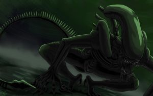 The Alien by ECrystalica
