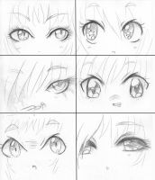 .:Manga Eyes Manga Faces:. by capochi