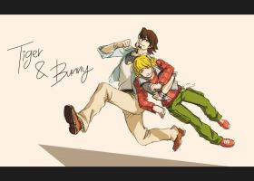 Tiger and Bunny on the run by Silvage