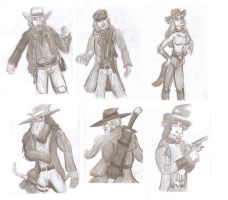 Character Sketch Collection- 2011-2012 by CrystalMarineGallery