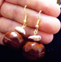 chocolate truffle earrings by AnaInTheStars