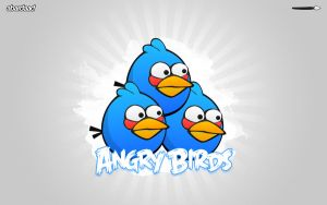 Angry Birds - blue trinity by abardaad