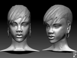 Rihanna sculpt update1 by GDSWorld