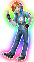 Human RainbowDash by Blairaptor