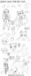 Doodle Dump February 2014 by NikkiWardArt