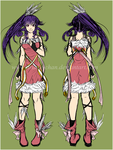 Lia Character Sheet - Coloured Sketch - by Ariake-chan
