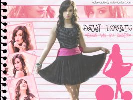 Demi Wallpaper by vaLeryaDesigns