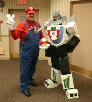 Super Mario with Wheeljack by Raggletag