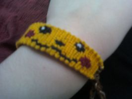 Pikachu Face Bracelet by x13supernova13x