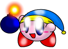 Kirby art 10 - Bomb by SkyWarriorKirby