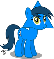 Triangle Mare My First Ponyscape Vector by MLP-Scribbles