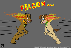 Joey and Lester: Falcon... by lightwolf21