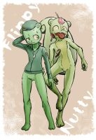 Flippy and Nutty by KickTyan
