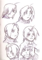 Edward Elric scetches by yaoiprincess12