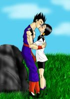 GohanxVidel -- Kiss by MissKisa