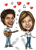 Caricature grooms by Geison