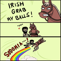 Irish grab my balls by Berylunee