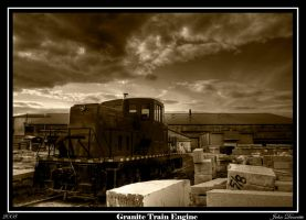 Train Engine at a Granite Yard by JohnDoe6