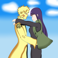 Point Commission 1 : NaruHina (Colored) by NickH49