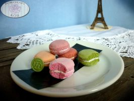 """JE T'AIME"" MACARONS by theporcelainrose"