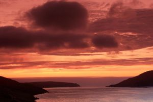 Ronas Voe sunset by Heylormammy