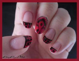 World of Warcraft Nail Art: Horde by KittyKlawzPolish