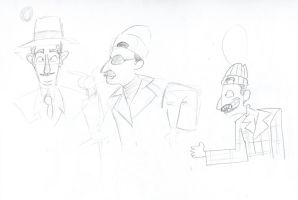 Inspector Gadget in disguise 1 by ExcentricSketches4U
