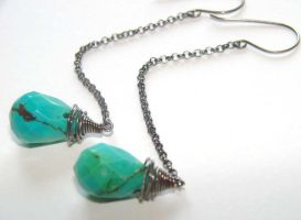 Simply Turquoise Earrings by CrysallisCreations