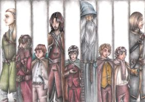 The Fellowship of the Ring - coloured by Whiterisu
