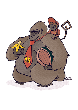 DK and Diddy by LuisFe87