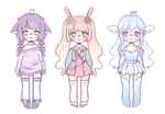 Smol pastel adopt auction [OPEN] + free extras :3c by mellowshy