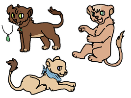 Lion cubs adoptables 2 LEFT!! by Zari-Adoptables