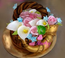 Basket of flowers by 6eki
