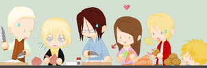 Family Cooking by PurpleKakashi