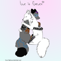 Love is Forever by BizTheWolfLover