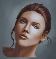 Portrait 'Babe In Black' by Chachava