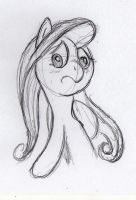 Quick Fluttershy sketch 2 by otto720