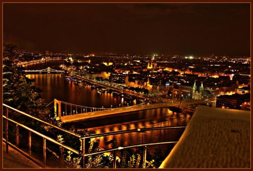 Bridges Across the Danube HDR by JAHarrell