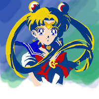 2nd Tablet drawing-Sailor Moon by ykansaki