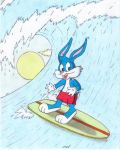 Buster Bunny the little surfer by fredvegerano