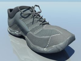 Modeled and Textured Shoe by LimitlessAsSky