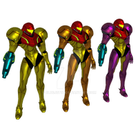Samus Aran Other M Pack V2 by Bluejet97