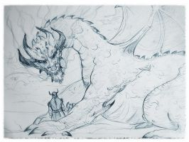 dragon sketch by fifoux