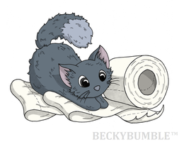 Naughty little kitten by BeckyBumble