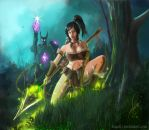 Nidalee fan art by bagoh2