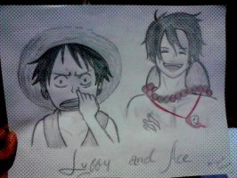 Luffy and ace by keichan77