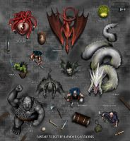 Fantasy art kit - token previews 01 by Shockbolt