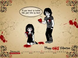 Happy EMO Valentine by bunnybua